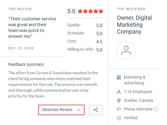 Sample review of Groom
